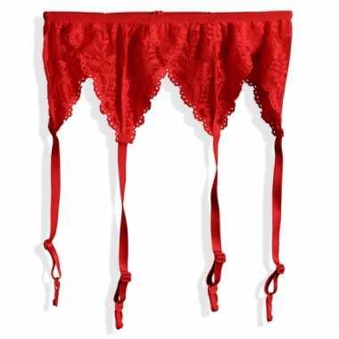 Sexy jarretels in het rood