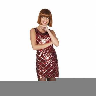 Sexy rood jurkje met pailletten