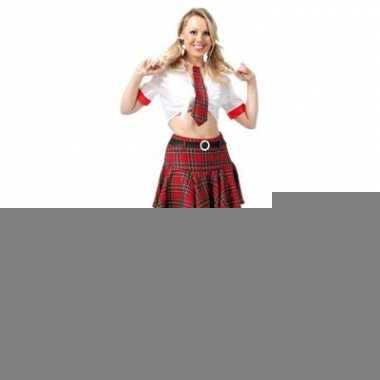 Sexy school uniform voor dames