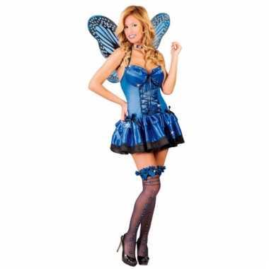 Sexy vlinderjurk voor dames blauw