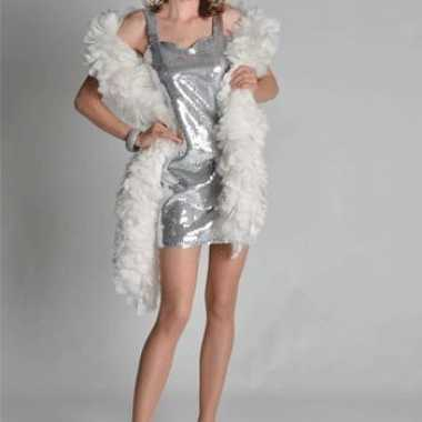 Sexy zilveren dames jurkjes