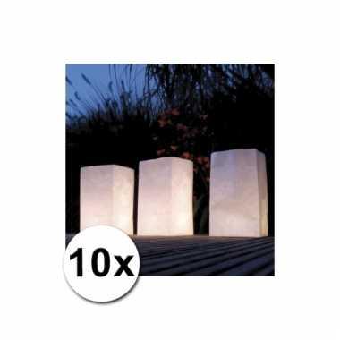 Sfeervolle candle bags 10 stuks