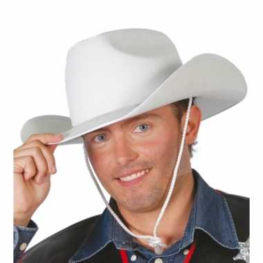 Sheriff hoed wit voor volwassenen