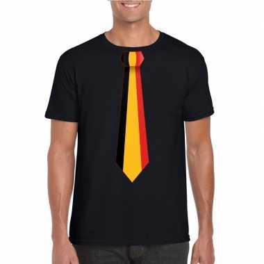 Shirt met belgie stropdas zwart heren