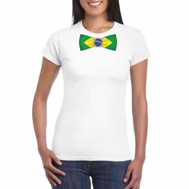 Shirt met brazilie strikje wit dames