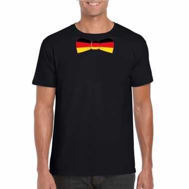 Shirt met duitsland strikje zwart heren