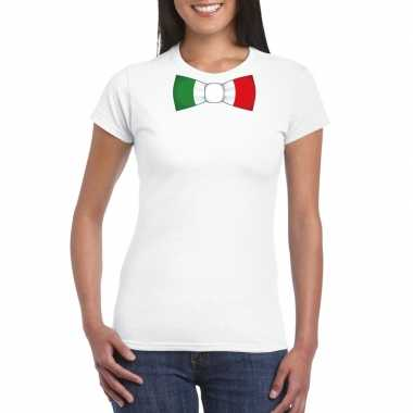 Shirt met italie strikje wit dames