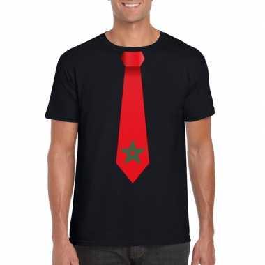 Shirt met marokko stropdas zwart heren
