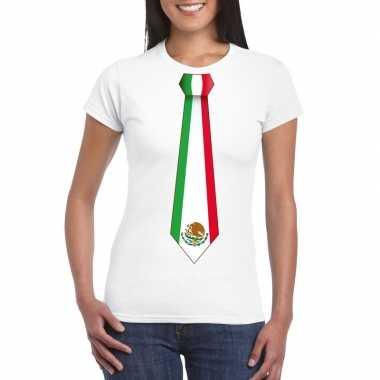 Shirt met mexico stropdas wit dames