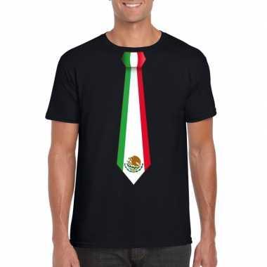Shirt met mexico stropdas zwart heren