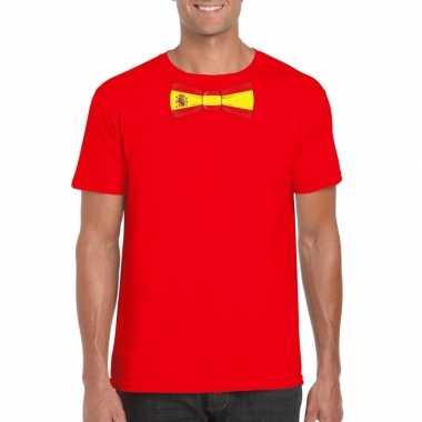 Shirt met spanje strikje rood heren