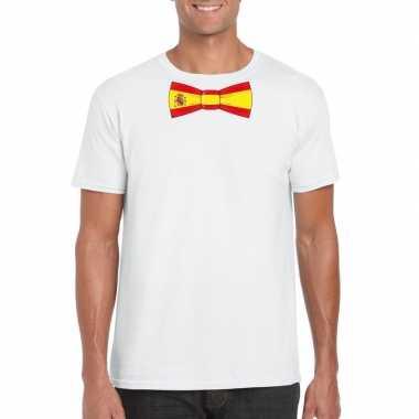 Shirt met spanje strikje wit heren