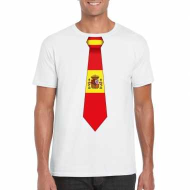 Shirt met spanje stropdas wit heren