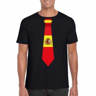 Shirt met spanje stropdas zwart heren