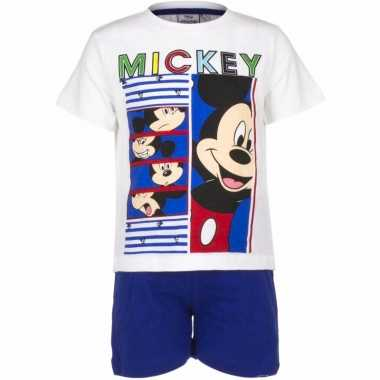 Shortama mickey mouse blauw