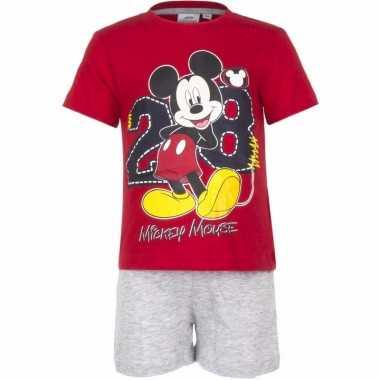 Shortama mickey mouse rood