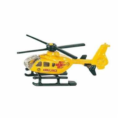 Siku ambulance gele helikopter 0856
