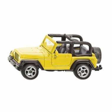 Siku blauwe jeep wrangler modelauto 1342
