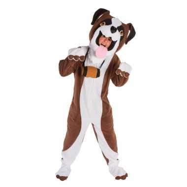 Sint bernard honden kostuum met masker
