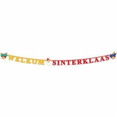 Sint nicolaas thema letterslinger welkom