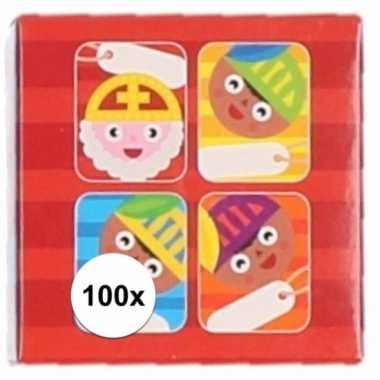 Sint stickers cartoon 100 stuks