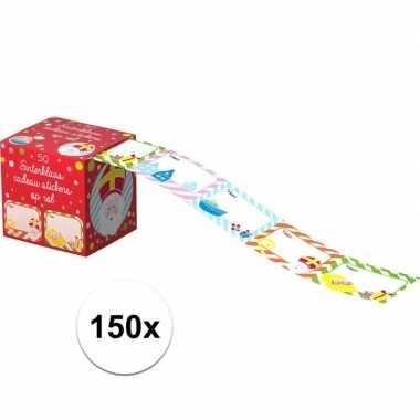 Sinterklaas cadeau etiketten 150 stuks