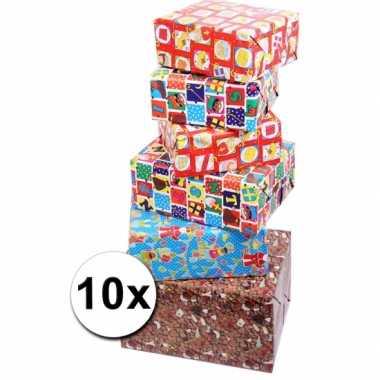 Sinterklaas inpakpapier 10 rollen