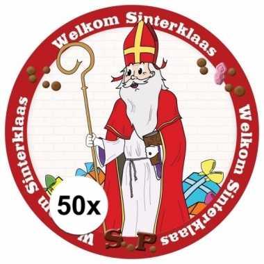 Sinterklaas thema onderzetters 50 stuks