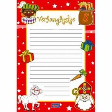 Sinterklaas verlanglijsten 6 stuks