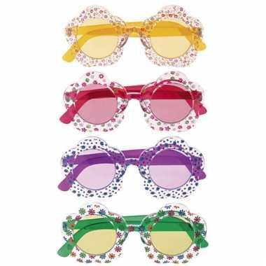 Sixties bloemetjes bril