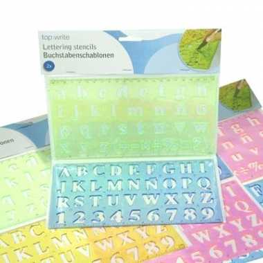 Sjablonen om letters mee te maken