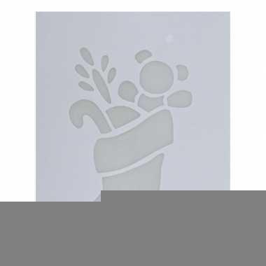 Sjabloon kerstsokje 35 cm