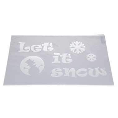 Sjabloon let it snow 54 cm type 1