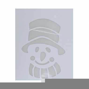 Sjabloon sneeuwman type 2 35 cm