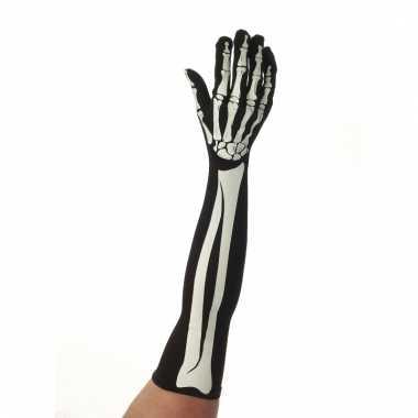 Skelet gala handschoenen