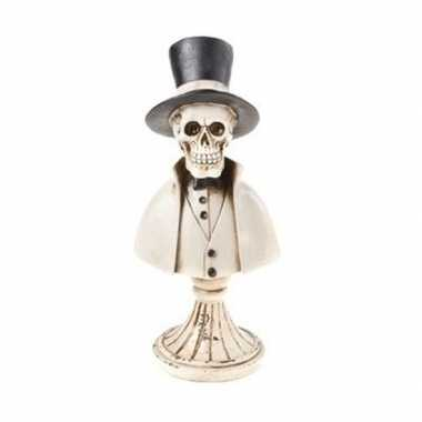 Skelet halloween beeldje polystone 31 cm