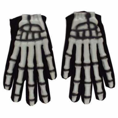 Skelet handschoenen zwart