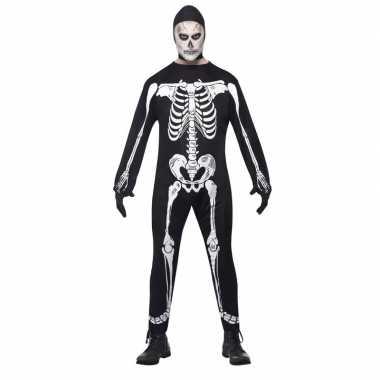 Skelet kostuum zwart/wit voor volwassenen