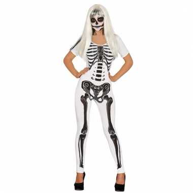 Skelet pak wit voor dames