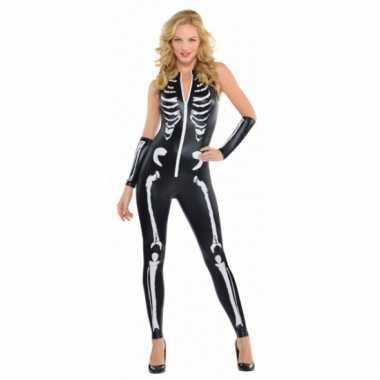 Skelet pak zwart voor dames