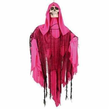 Skelet pop roze met licht en beweging