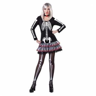 Skelet verkleed pakje voor dames