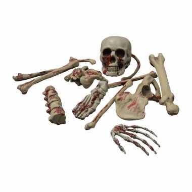 Skelett set botten met bloed