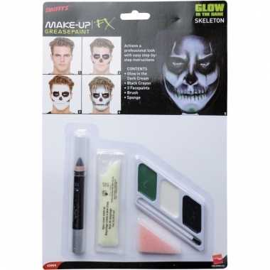 Skeletten horror schmink glow in the dark