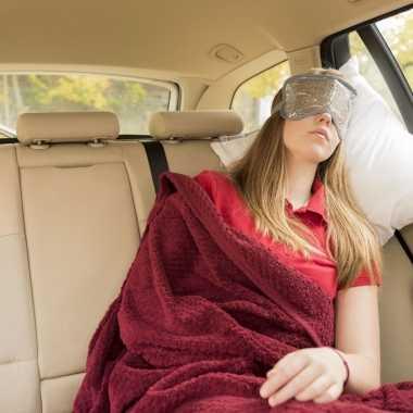 Slaapmasker warm/koud grijs