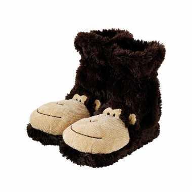 Slof sokken bruine aap