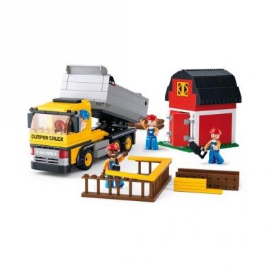 Sluban bouwsteentjes kiepwagen