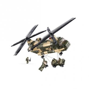 Sluban bouwstenen chinook helikopter
