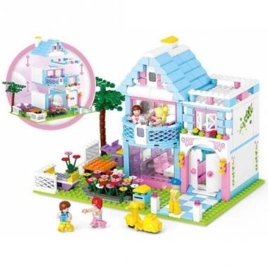 Sluban familie huis bouwstenen set