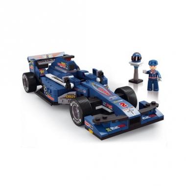 Sluban race auto blauw